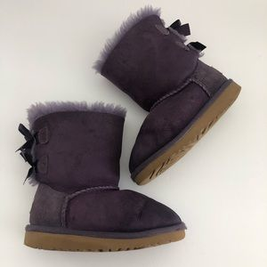 UGG Bailey Bow Boots 3280 Petunia Purple Size 9